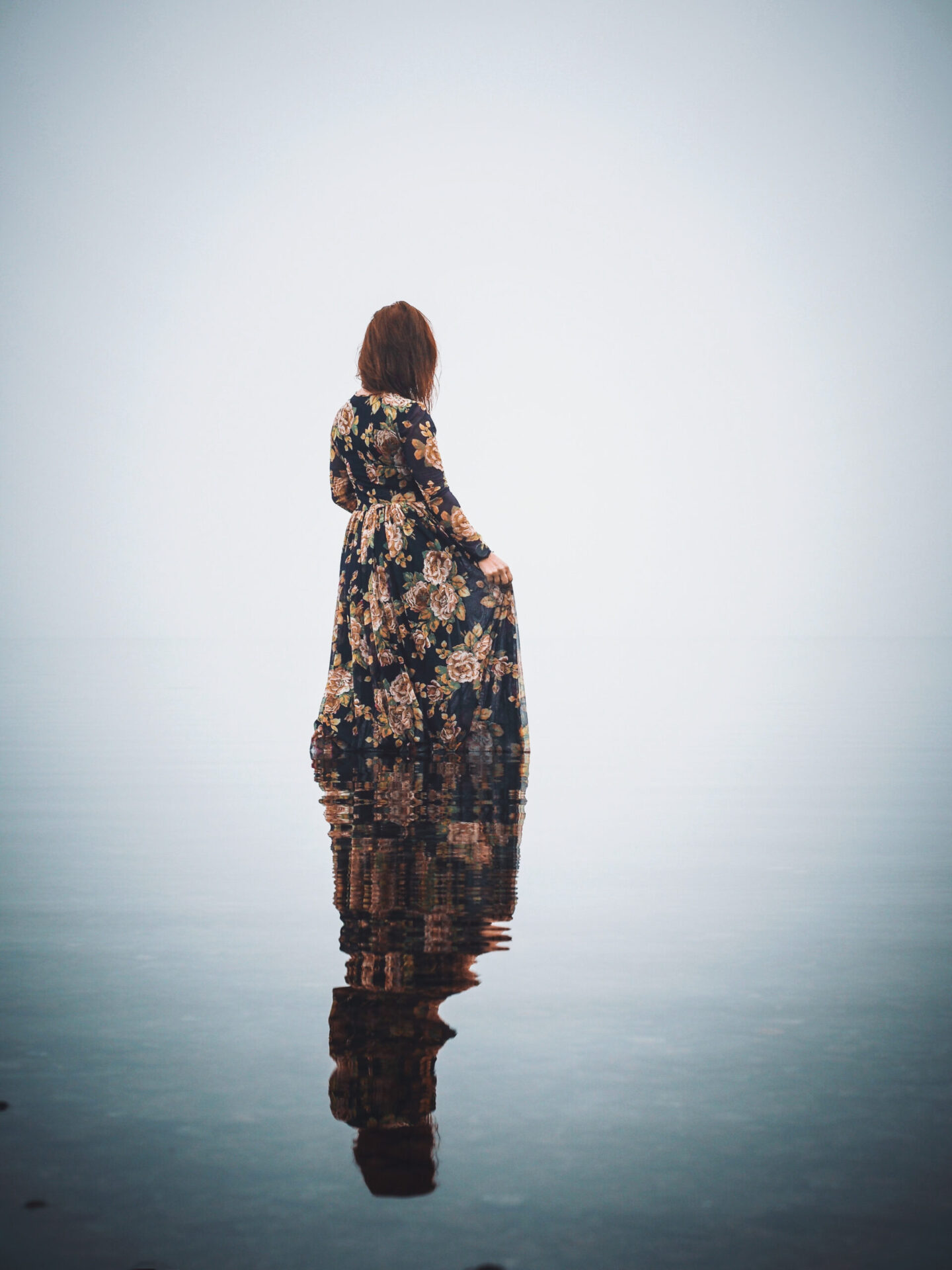Kvinna i vattnet